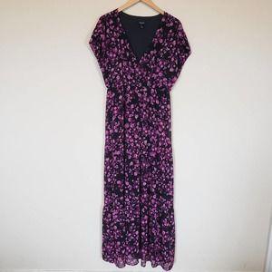 Torrid purple floral maxi dress